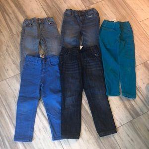 6 pairs of Oshkosh girls 5t pants